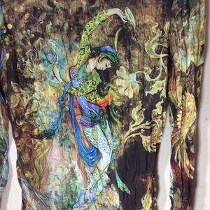 Alberto Makali Tops - Alberto Makali Dancing Gypsy Goddess Turtle Neck
